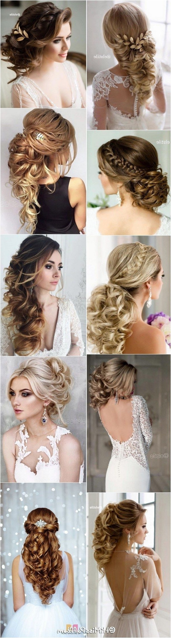 Trendy Wedding Hairstyles For Long Hair And Fringe Inside Bridal Wedding Hairstyles For Long Hair That Will Inspire / Http (View 14 of 15)