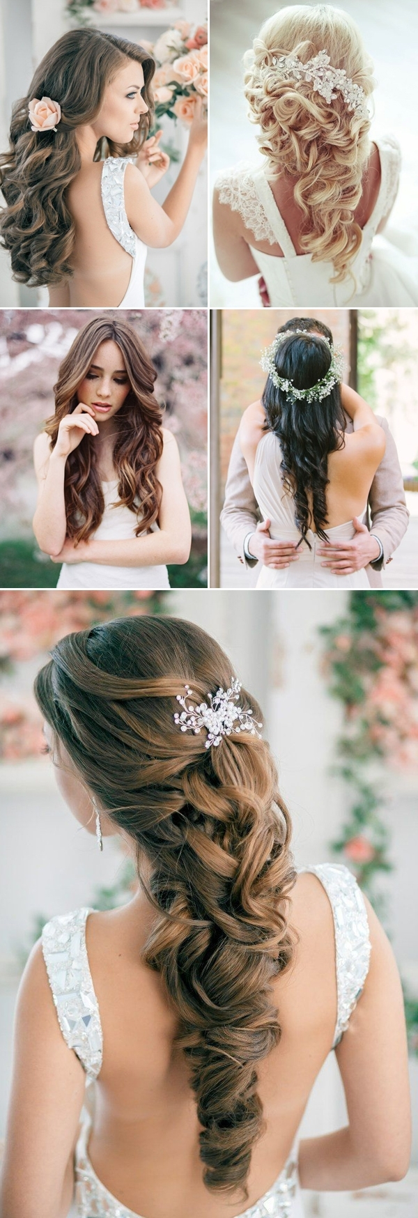 Trendy Wedding Hairstyles For Long Hair Down With Flowers For 42 Steal Worthy Wedding Hairstyles For Long Hair (View 10 of 15)