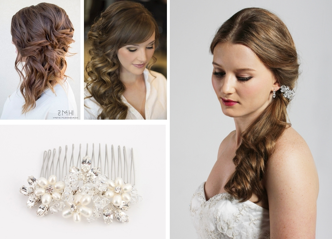 Trendy Wedding Hairstyles For Long Hair With Side Swept Throughout Side Swept Wedding Hairstyles Wedding Hair Ideas For Long Hair (View 8 of 15)