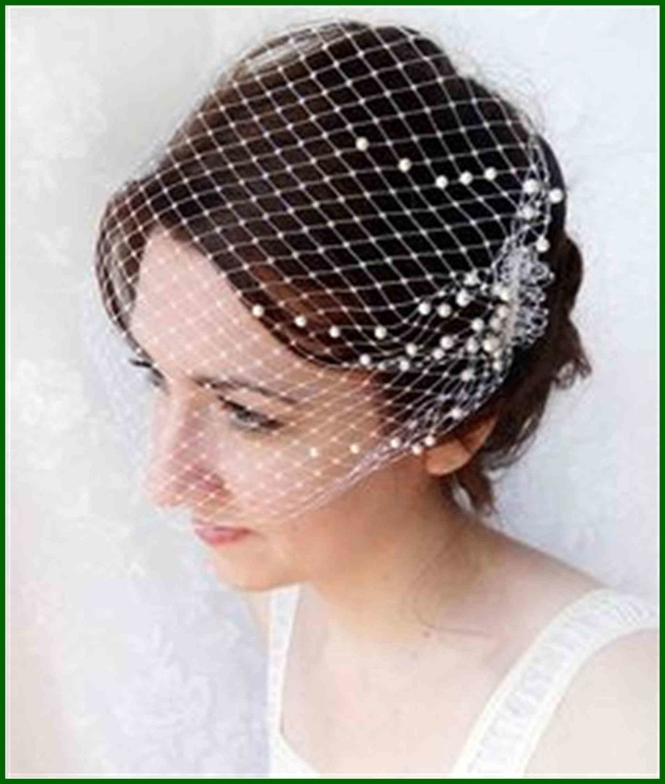 Trendy Wedding Hairstyles For Short Hair With Birdcage Veil Pertaining To Best Wedding Hair For Long With Birdcage Veil Ideas Pics Of Short (View 3 of 15)