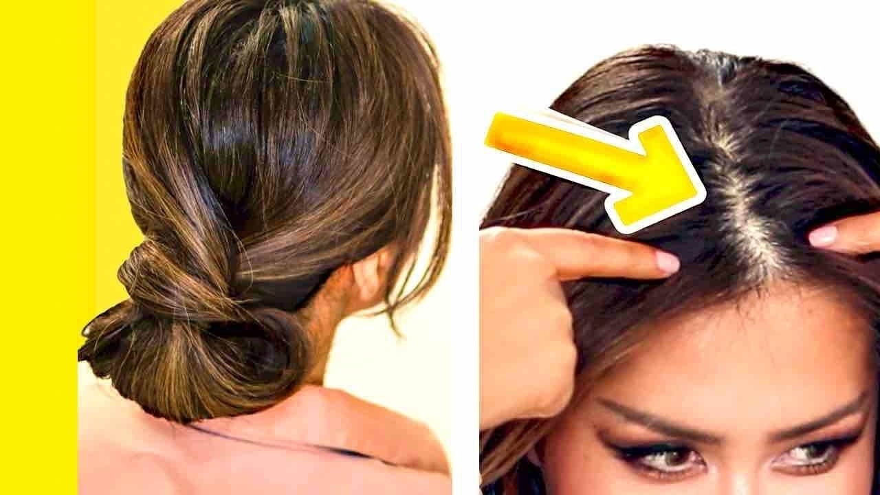 Trendy Wedding Hairstyles For Thin Straight Hair Intended For ☆ 2 Minute Elegant Bun For Thin Hair (View 13 of 15)