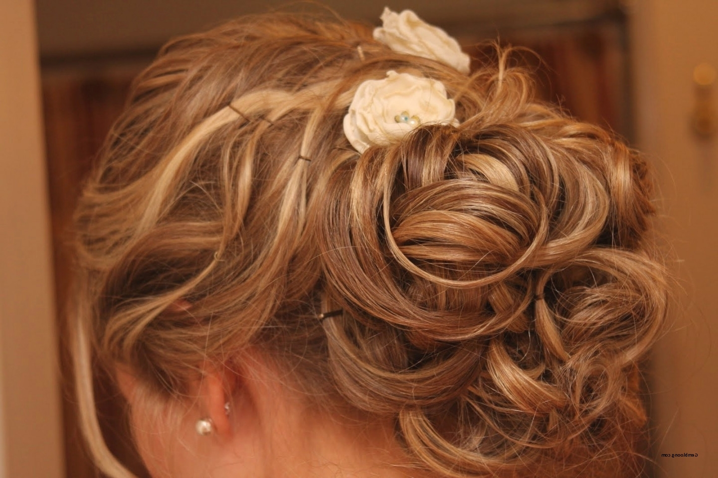 Trendy Wedding Hairstyles For Very Thin Hair Inside Wedding Hairstyles For Short Thin Hair Simple Wedding Updos For Thin (View 8 of 15)