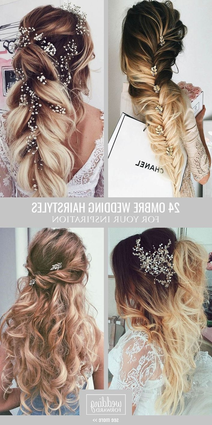 Trendy Wedding Hairstyles With Ombre Intended For 24 Modish Ombre Wedding Hairstyles ?? Ombre Wedding Hairstyles Are (View 11 of 15)