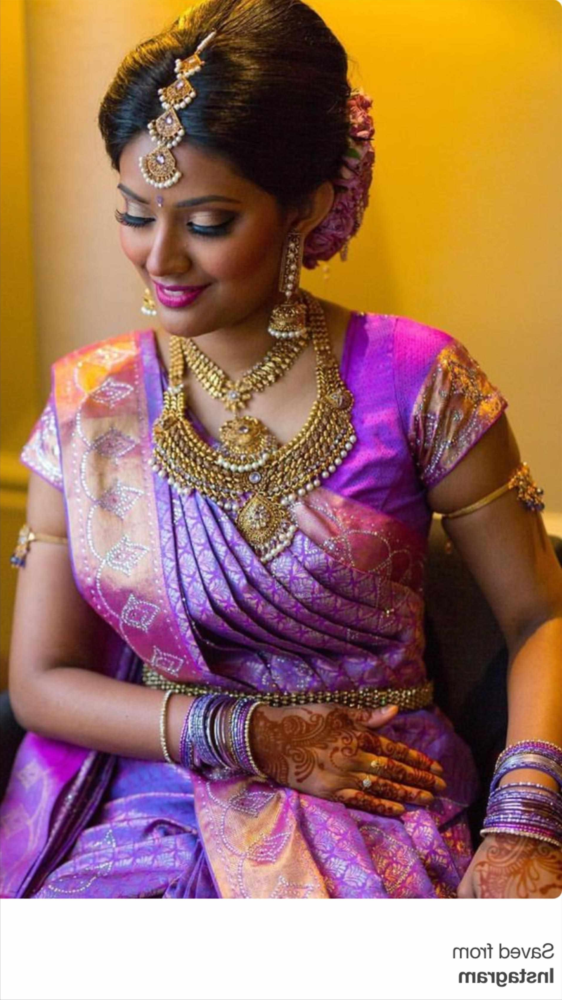 Trendy Wedding Reception Hairstyles For Saree Pertaining To Bunch Ideas Of South Indian Bridal Reception Hairstyles Nice For (View 15 of 15)