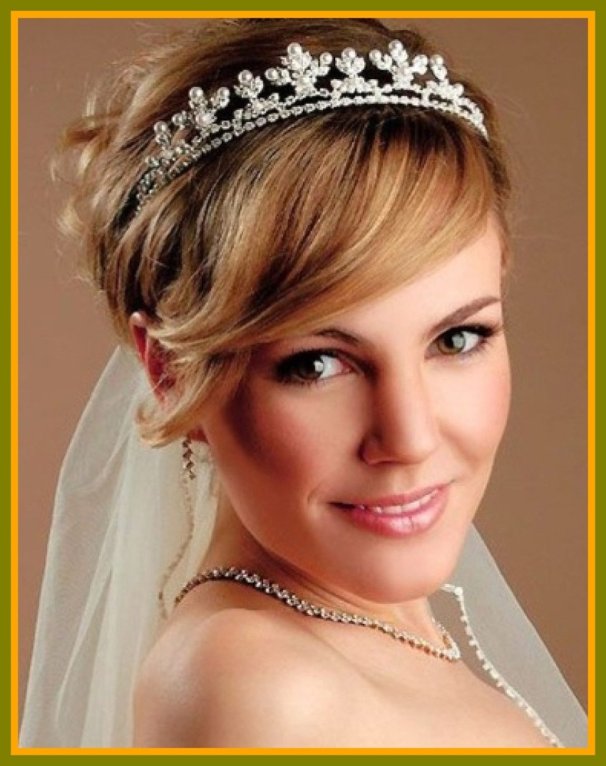 Unbelievable Best Wedding Hairstyles For Short Hair Of With Tiara With Latest Wedding Hairstyles For Short Hair With Tiara (Gallery 12 of 15)