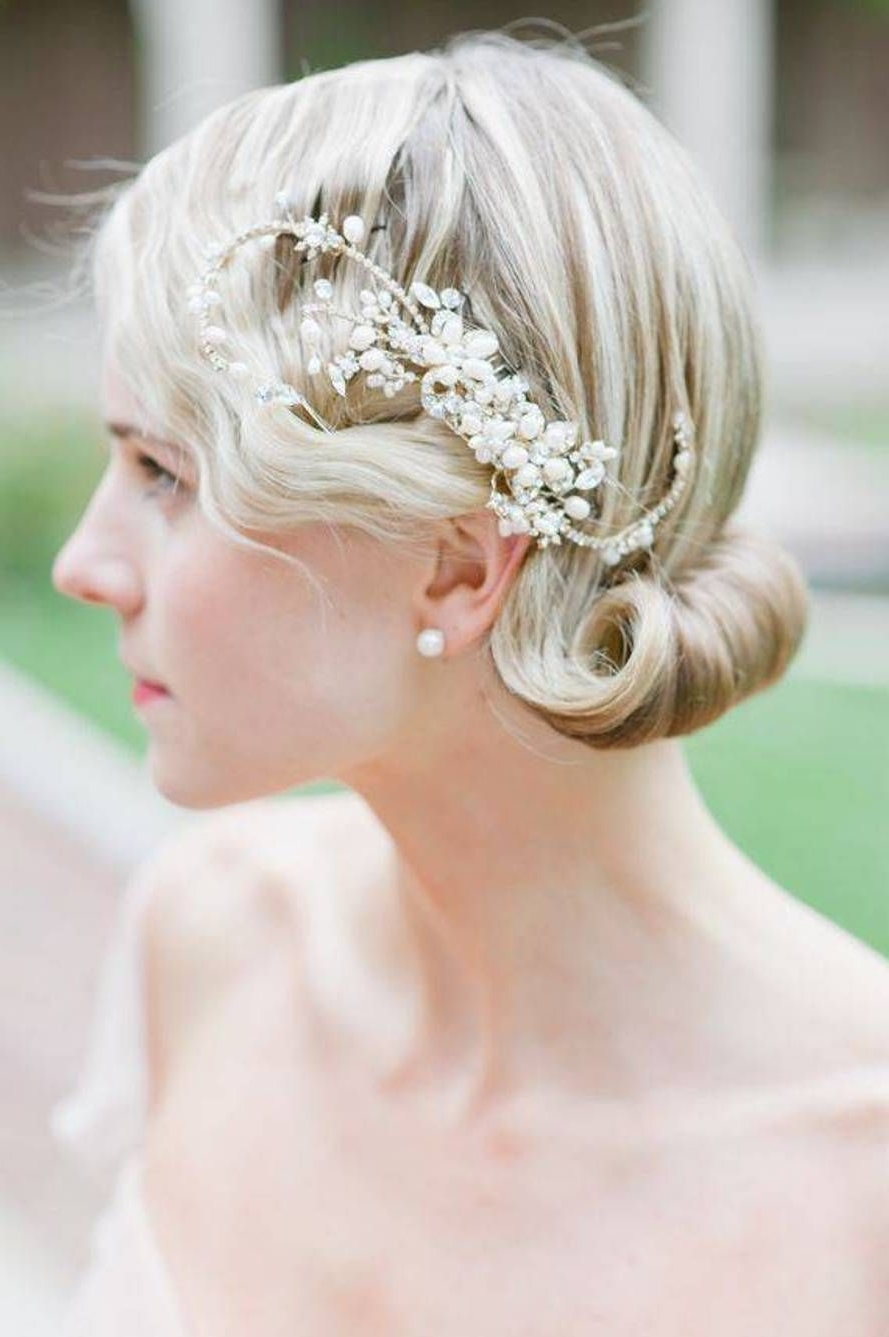 Up Dos Wedding Hairstyles For Medium Hair : Simple Hairstyle Ideas For Best And Newest Elegant Wedding Hairstyles For Shoulder Length Hair (View 13 of 15)