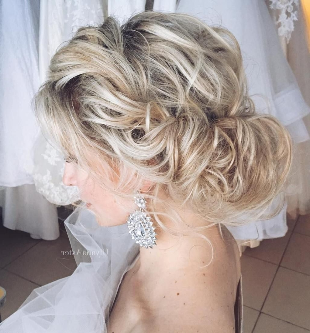 Updo, Curly Inside Widely Used Wedding Hairstyles For Short Thin Hair (Gallery 12 of 15)