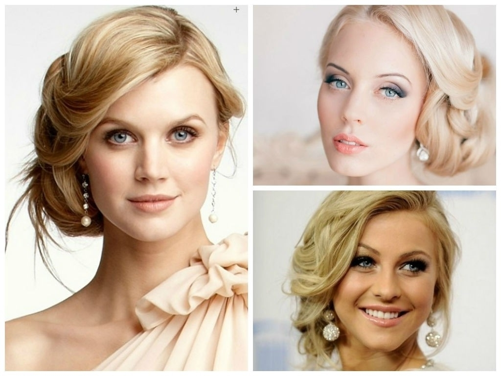 Updo For Pertaining To Widely Used Wedding Hairstyles For Round Shaped Faces (View 6 of 15)