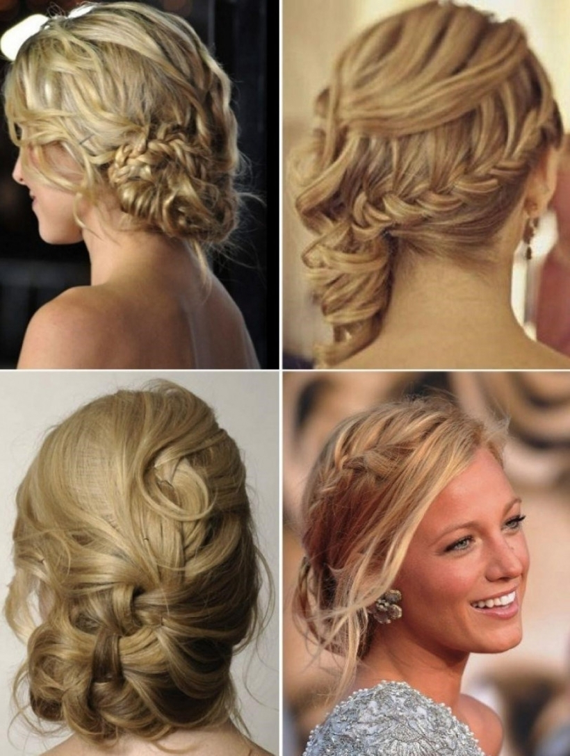 Updo Hairstyles For A Wedding Wedding Hairstyles Side Bun With Braid Intended For Latest Wedding Hairstyles To The Side (View 10 of 15)