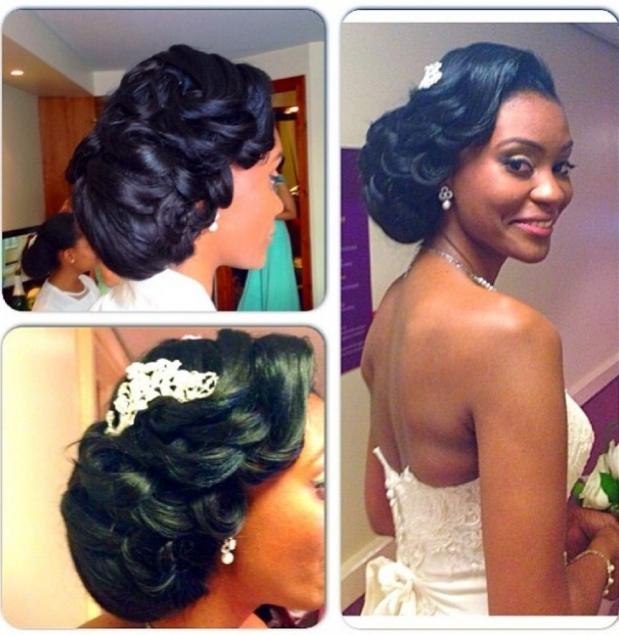 Updo Wedding Hairstyle For Black Women Wedding Hairstyles For Black Inside Most Current Wedding Hairstyles For Black Women (View 12 of 15)