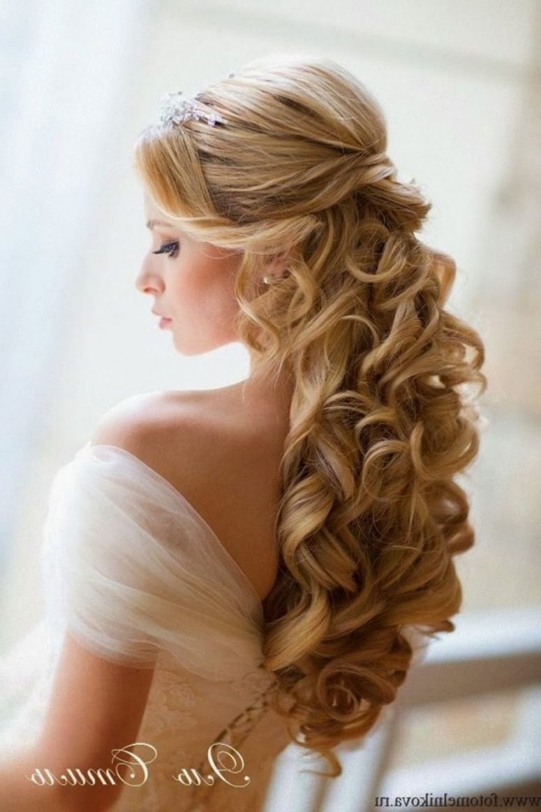 Updos For Long Hair Wedding Wedding Hairstyles Long Hair Down (Gallery 2 of 15)