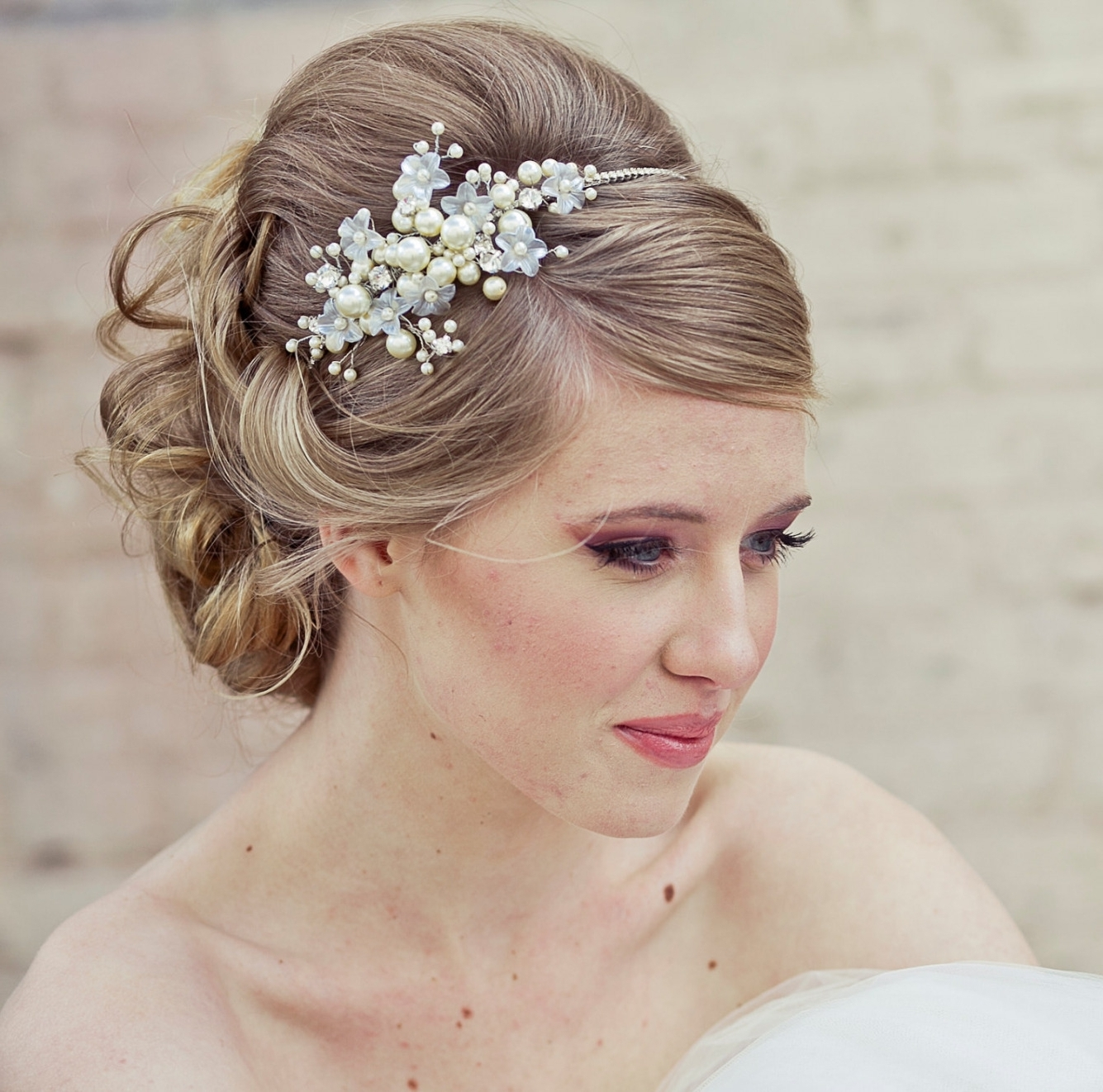 Vintage Inside Well Liked Wedding Hairstyles For Shoulder Length Hair With Tiara (View 12 of 15)