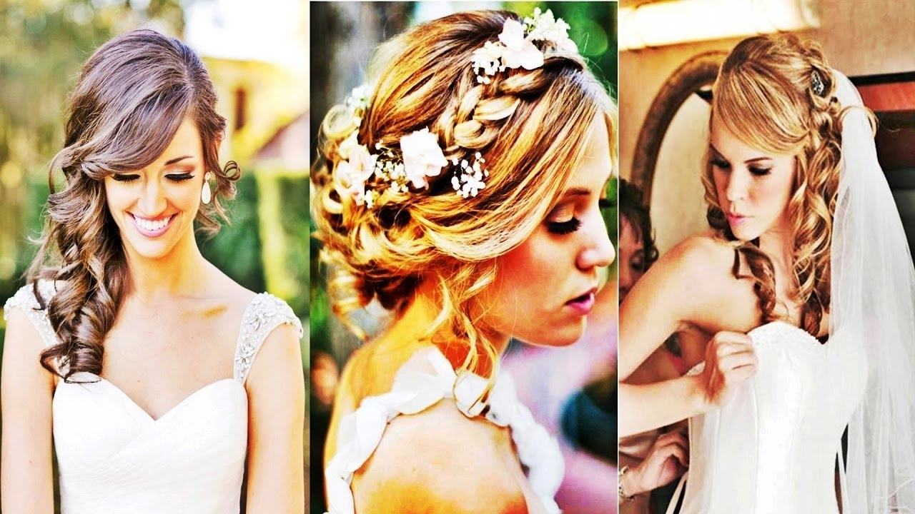 Wavy Wedding Hairstyles For Medium Length Hair 2017 – Youtube Inside Most Current Edmonton Wedding Hairstyles (View 15 of 15)
