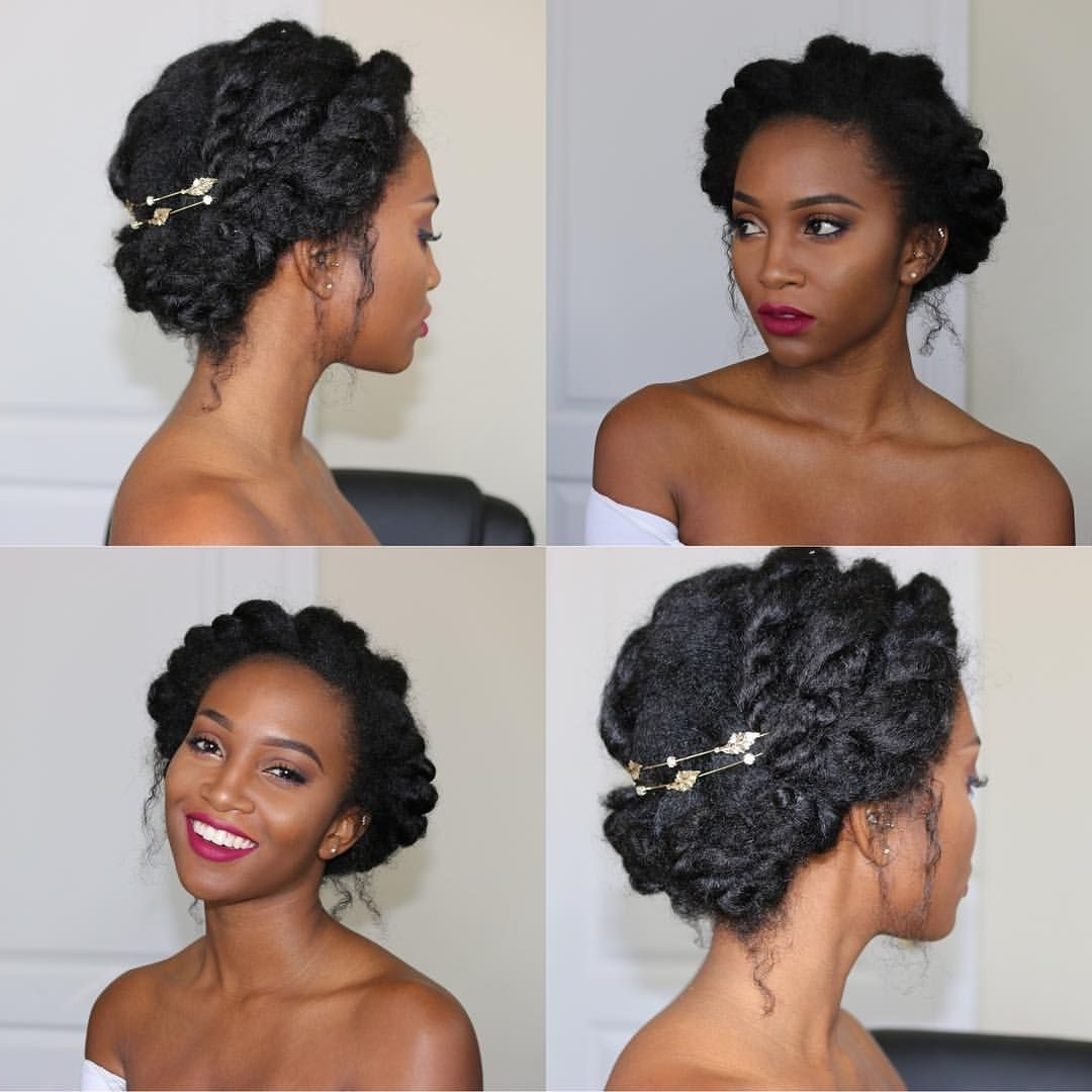 Wedding Guest Hairstyles For Black Hair Natural Short Amazing Curly Within Popular Bridesmaid Hairstyles For Short Black Hair (View 13 of 15)