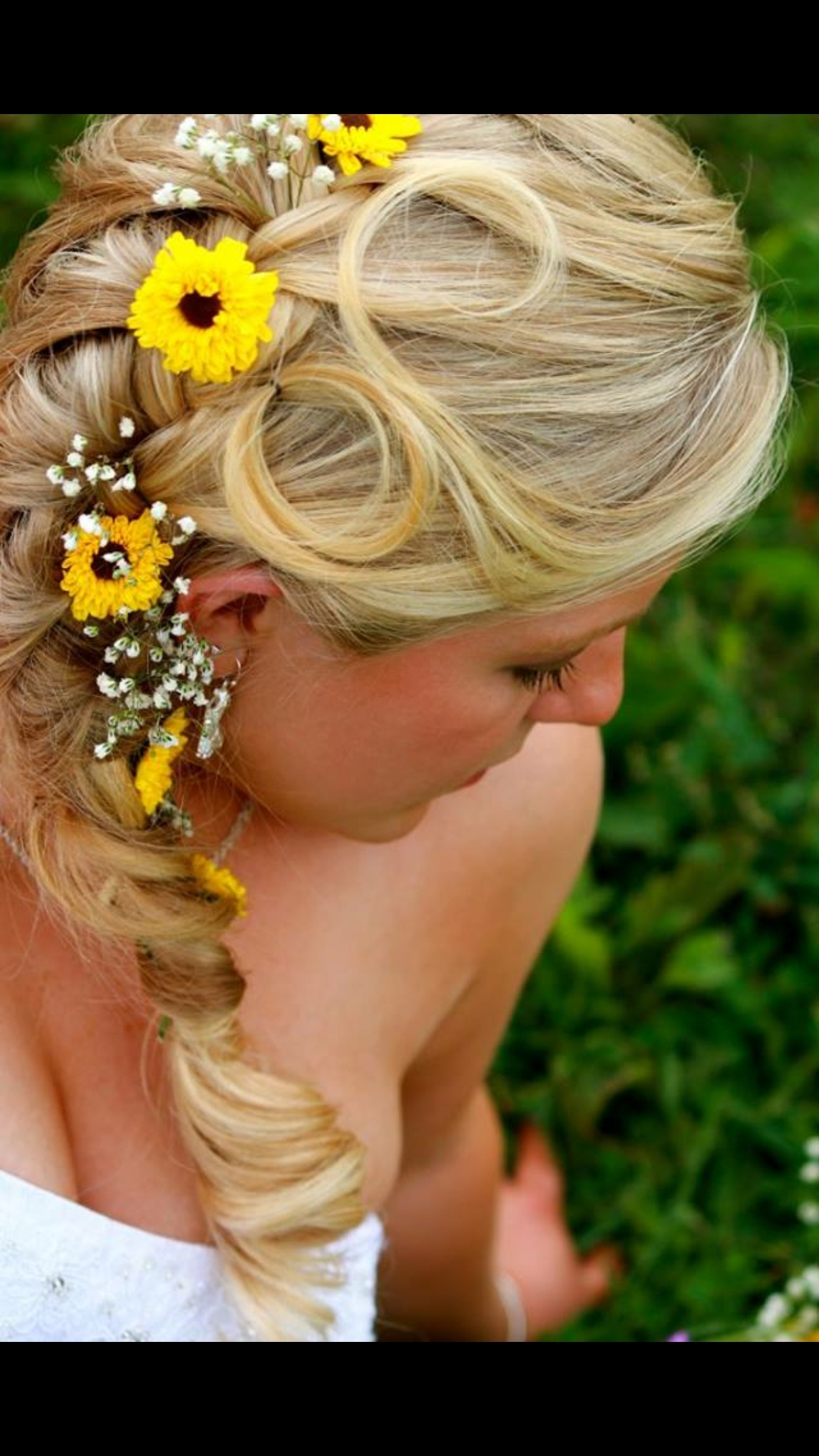 Wedding Hair : Cool Country Wedding Hair Styles Ideas Casual With Regard To Widely Used Wedding Hairstyles With Sunflowers (View 4 of 15)