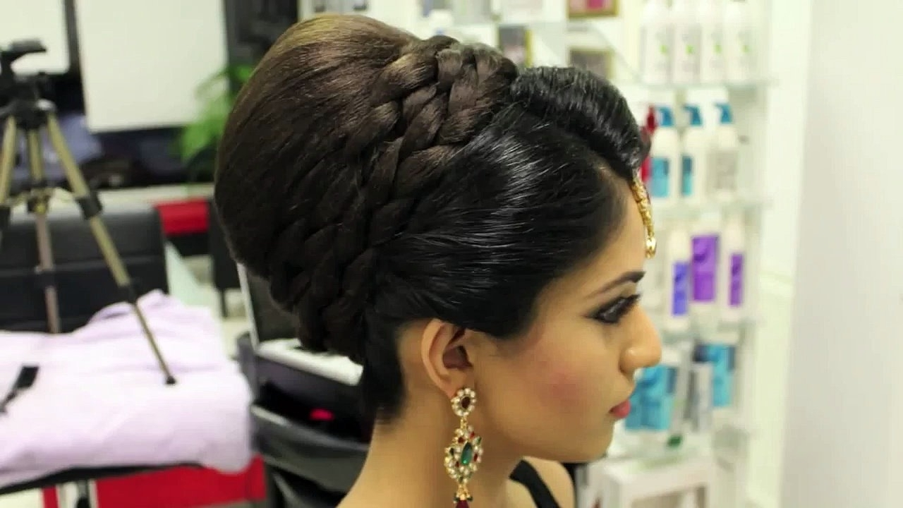 Wedding Hair : Creative Asian Wedding Hairstyles For Long Hair Throughout Most Recent Indian Wedding Hairstyles For Short And Thin Hair (View 14 of 15)