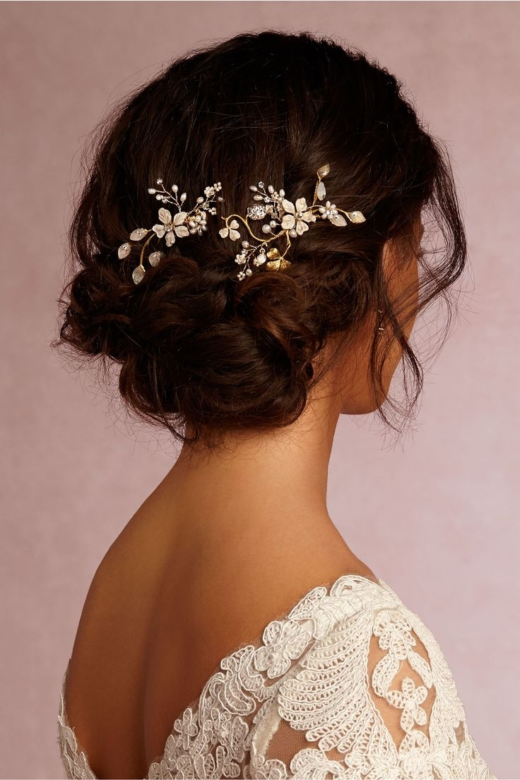 Wedding Hair : Creative Pinterest Wedding Hairstyles For Long Hair Throughout Current Wedding Hairstyles With Hair Accessories (View 11 of 15)
