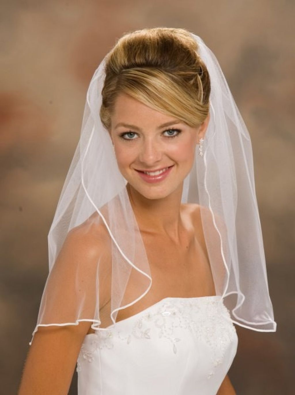 Wedding Hair : Fresh Wedding Hairstyles With Veil Long Hair From Regarding Preferred Bridal Hairstyles For Short Length Hair With Veil (View 13 of 15)