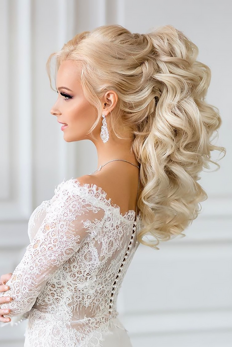 Wedding Hair : New Wedding Hair Ponytail A Wedding Day Inspiration Regarding Well Known Wedding Hairstyles With Ponytail (View 8 of 15)