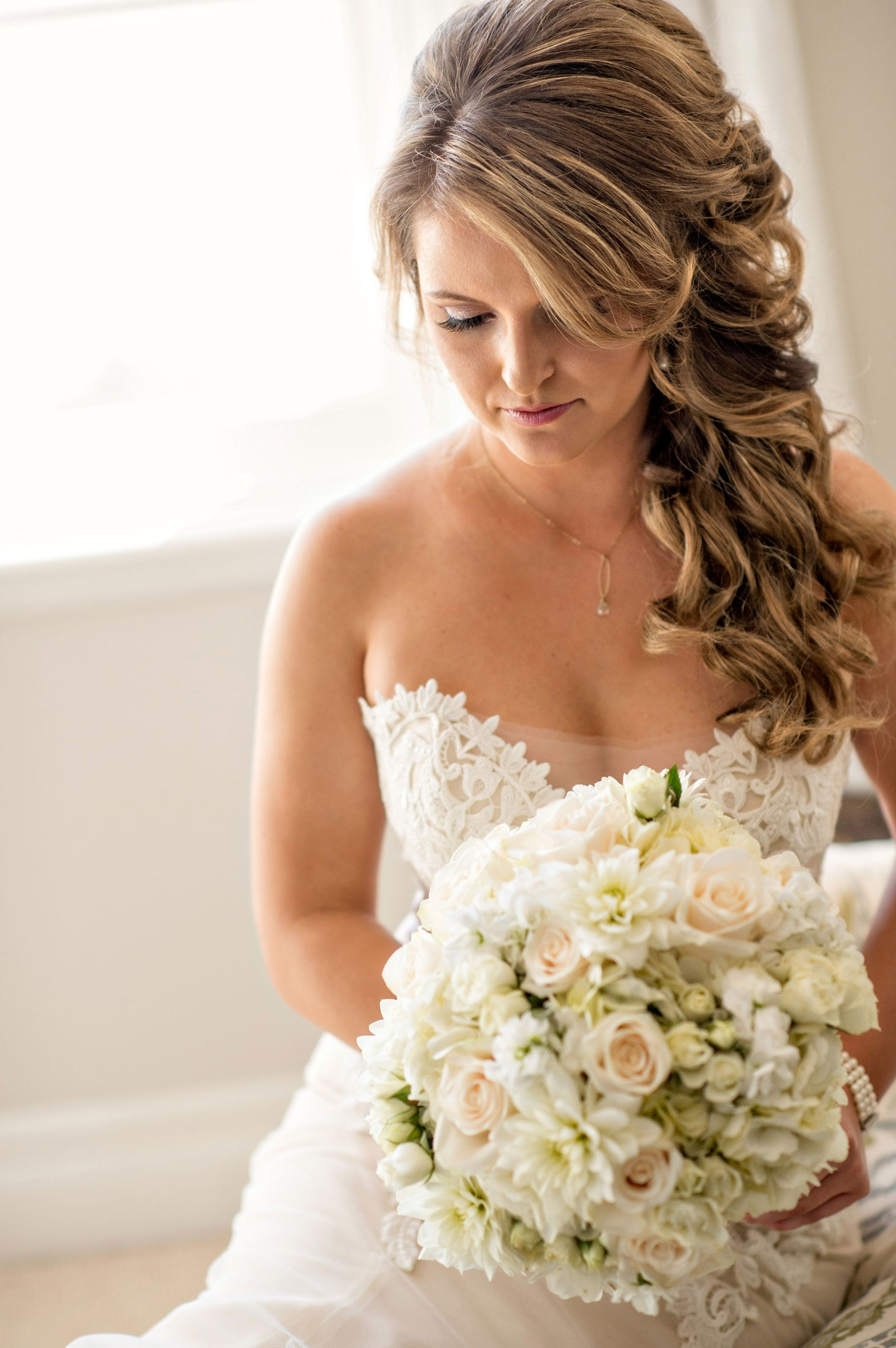 Wedding Hair: Pretty Hairstyles For Brides With Long Hair – Inside Intended For Newest Pulled To The Side Wedding Hairstyles (View 12 of 15)