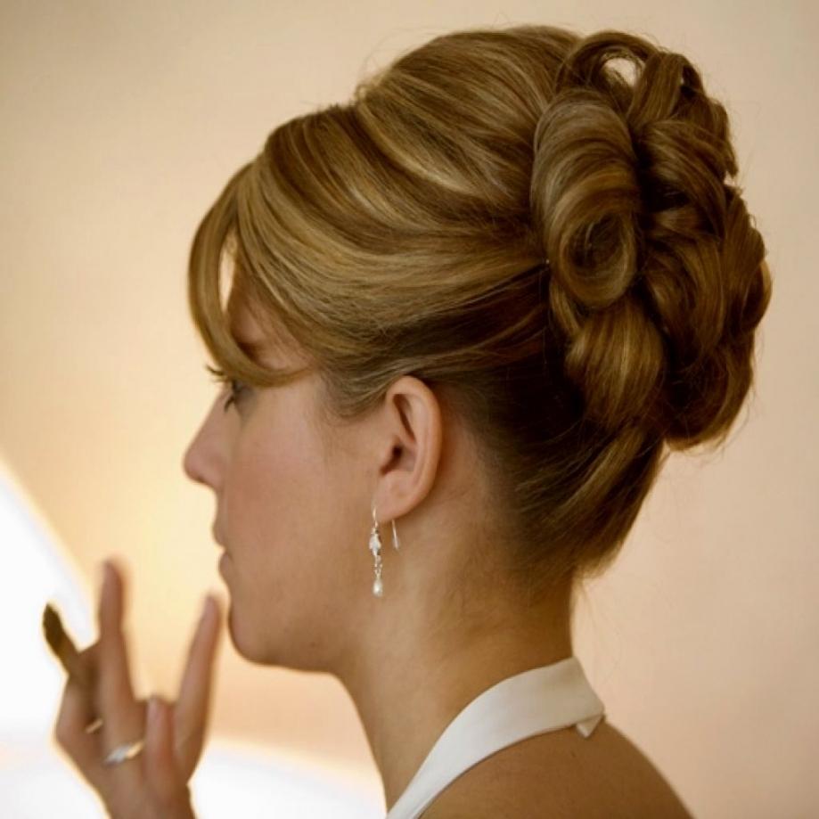 Wedding Hairdos Short Hair Mother Updo Hairstyles For Weddings Of Regarding Trendy Bridal Updo Hairstyles For Medium Length Hair (View 13 of 15)