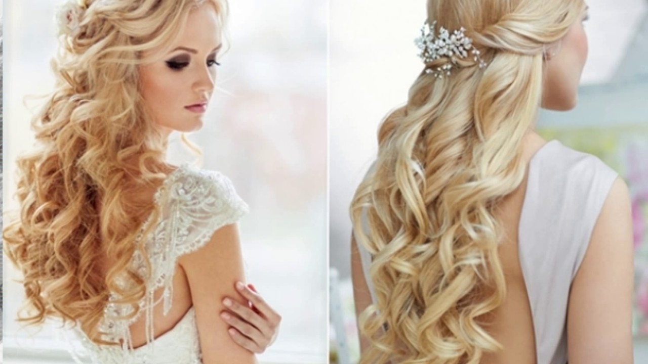Wedding Hairstyle For Long Hair Down – Youtube Within Widely Used Down Long Hair Wedding Hairstyles (View 12 of 15)