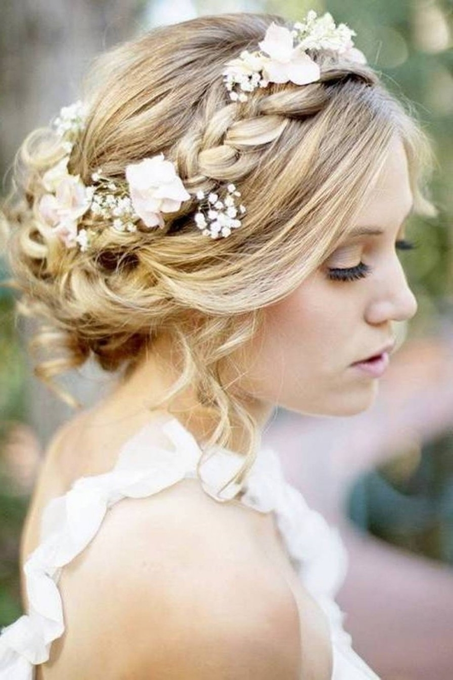 Wedding Hairstyle For Short Hair With Tiara – Hairstyles And Throughout Best And Newest Wedding Hairstyles For Short Hair And Bangs (View 13 of 15)