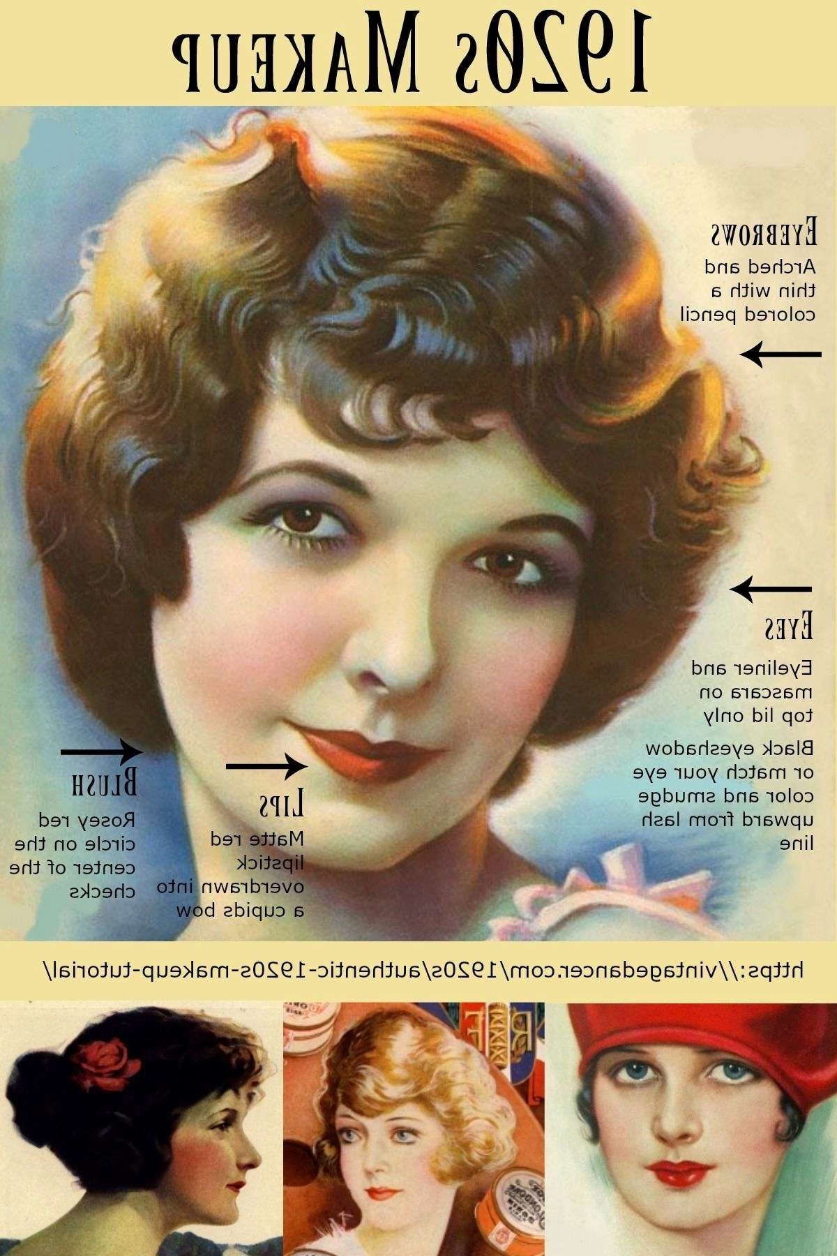 Wedding Hairstyles 1920S Era Fresh Authentic 1920S Makeup Tutorial Throughout Most Current 1920S Era Wedding Hairstyles (View 13 of 15)