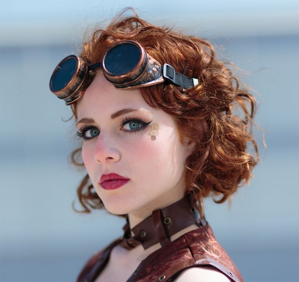 Wedding Hairstyles 2017: Steampunk Hairstyles Throughout Newest Wedding Hairstyles With Glasses (View 8 of 15)