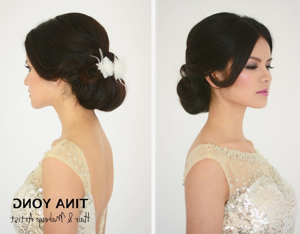 Wedding Hairstyles : Asian Wedding Updo Hairstyles Fashionable Under Pertaining To 2018 Asian Wedding Hairstyles (View 15 of 15)