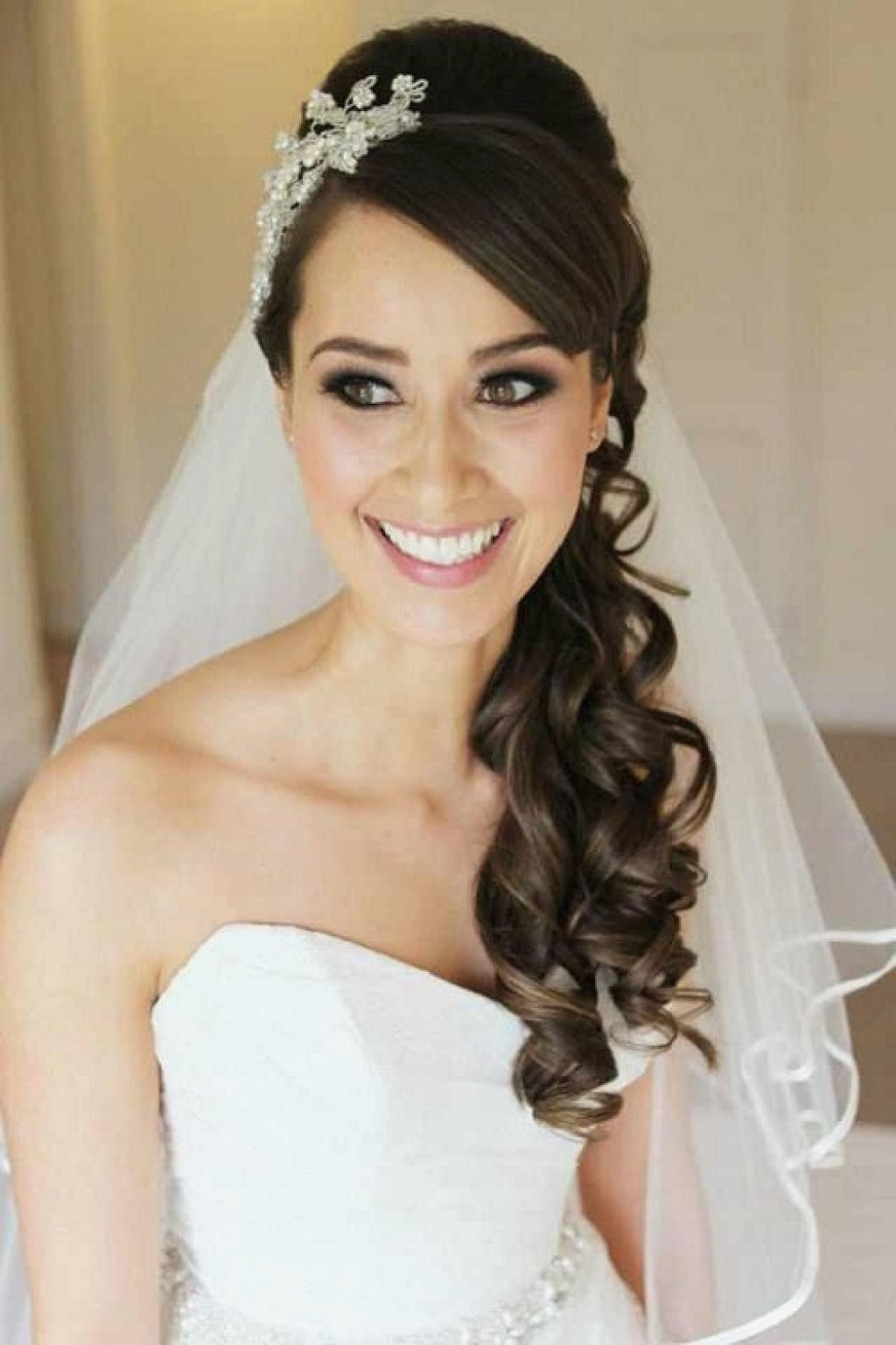 Wedding Hairstyles : Awesome Wedding Hairstyles Side Curls New At Regarding Fashionable Wedding Hairstyles On The Side With Curls (View 10 of 15)