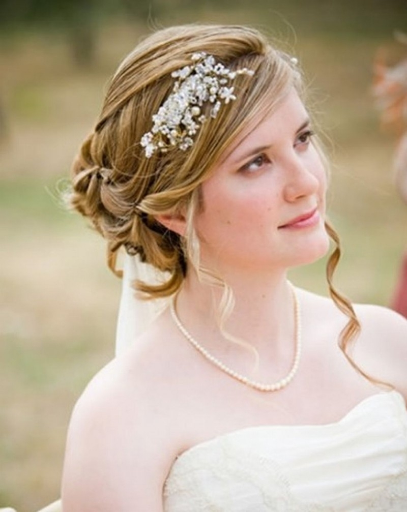 Wedding Hairstyles : Bridal Hairstyles Medium Length Hair 2016 Throughout Newest Bridal Wedding Hairstyles (View 12 of 15)