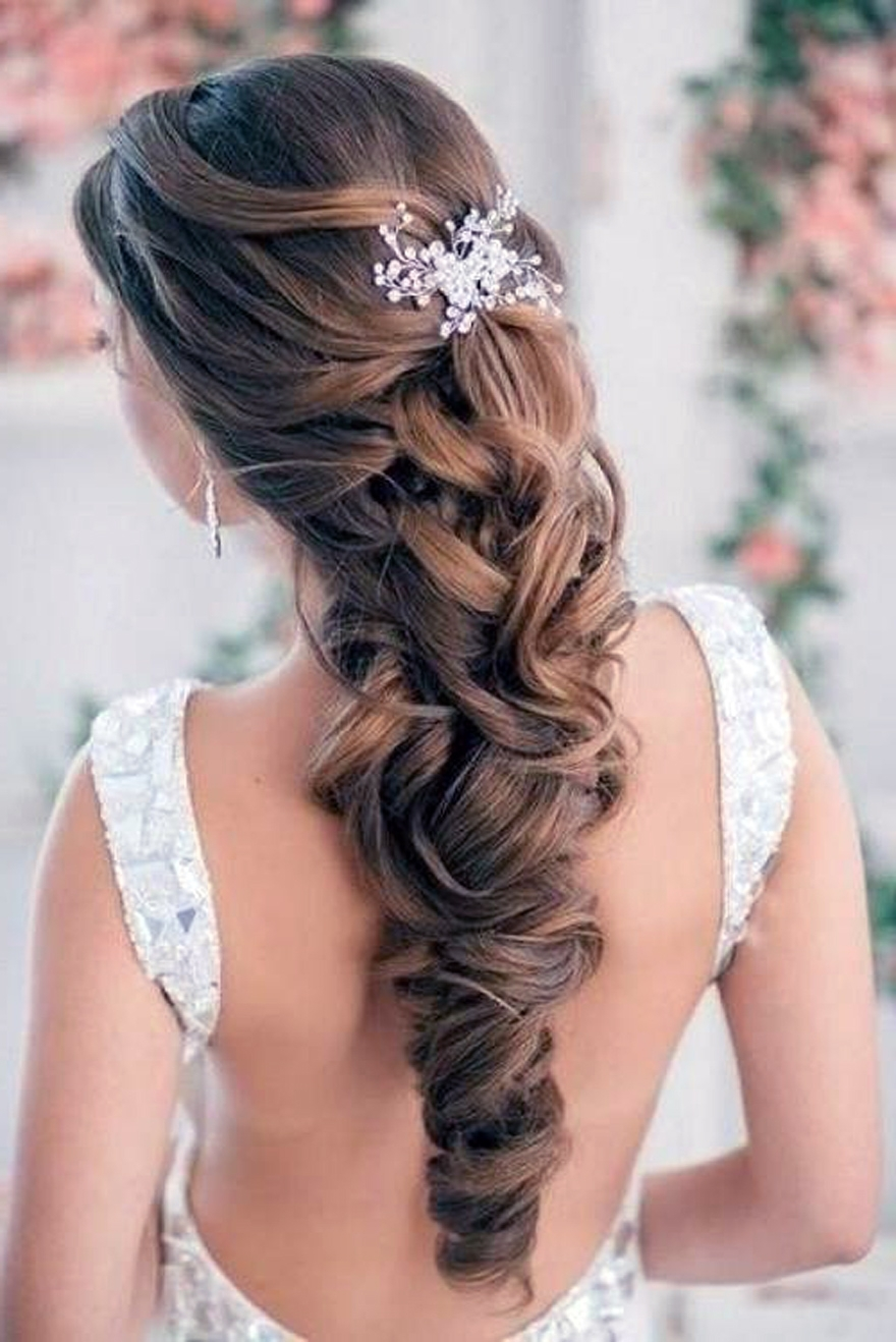 Wedding Hairstyles Down Curly For Bride – Inofashionstyle In Most Up To Date Bridal Wedding Hairstyles (View 14 of 15)