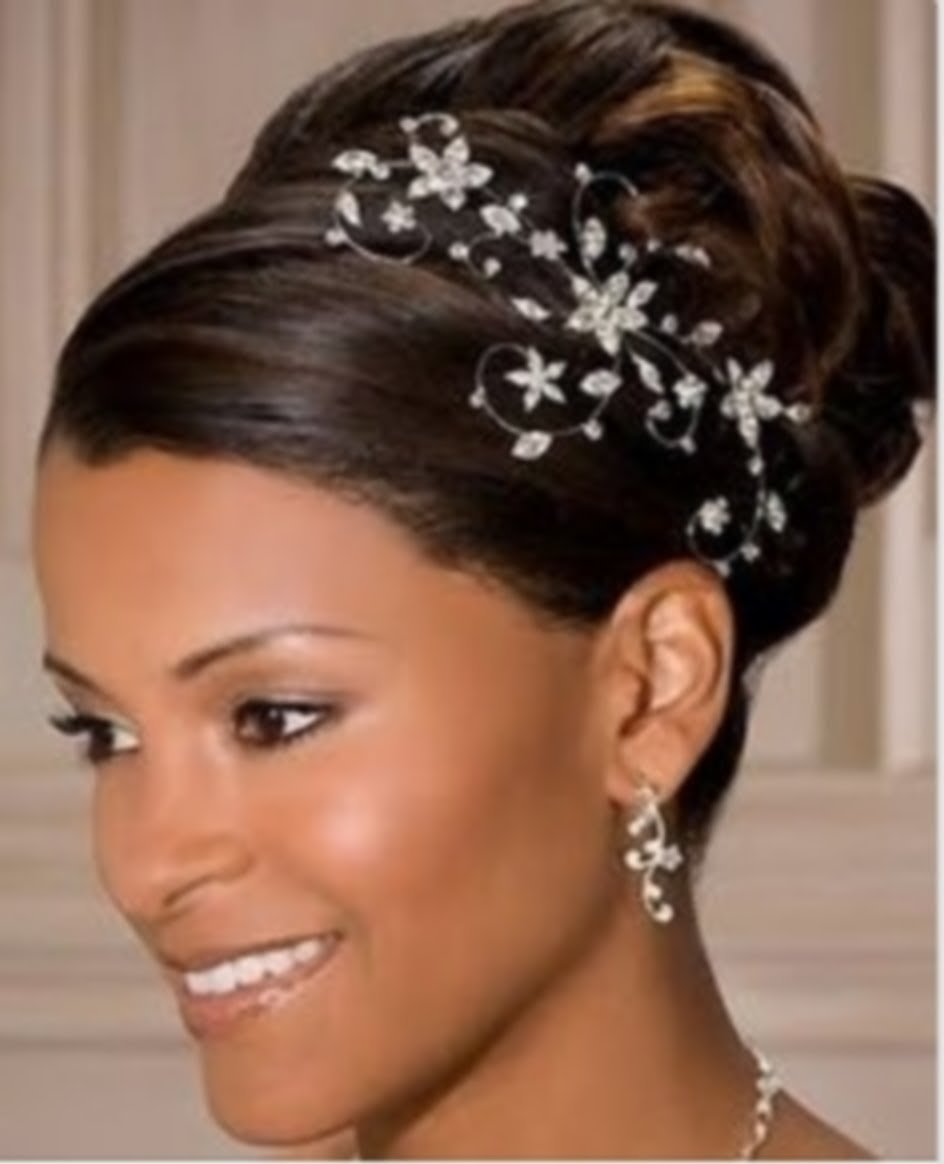 Wedding Hairstyles For Black Brides African American Hair Updosds Intended For Widely Used Short Wedding Hairstyles For Black Bridesmaids (View 15 of 15)
