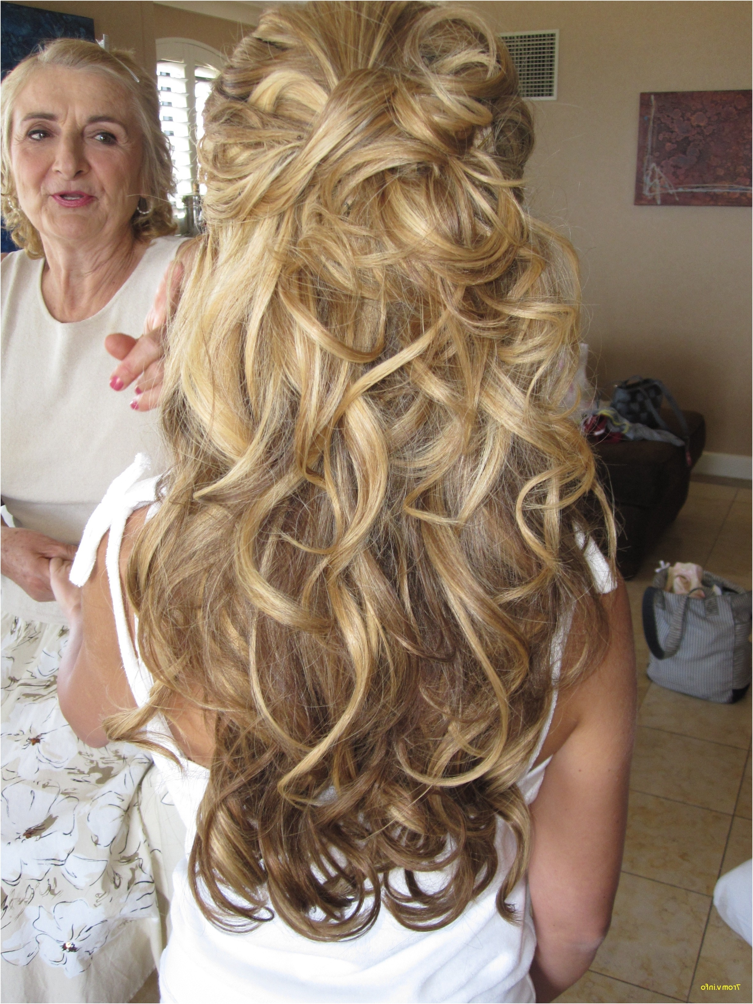 Wedding Hairstyles For Long Hair Off To The Side Beautiful 1 2 Up 1 Pertaining To Most Popular Off To The Side Wedding Hairstyles (View 14 of 15)