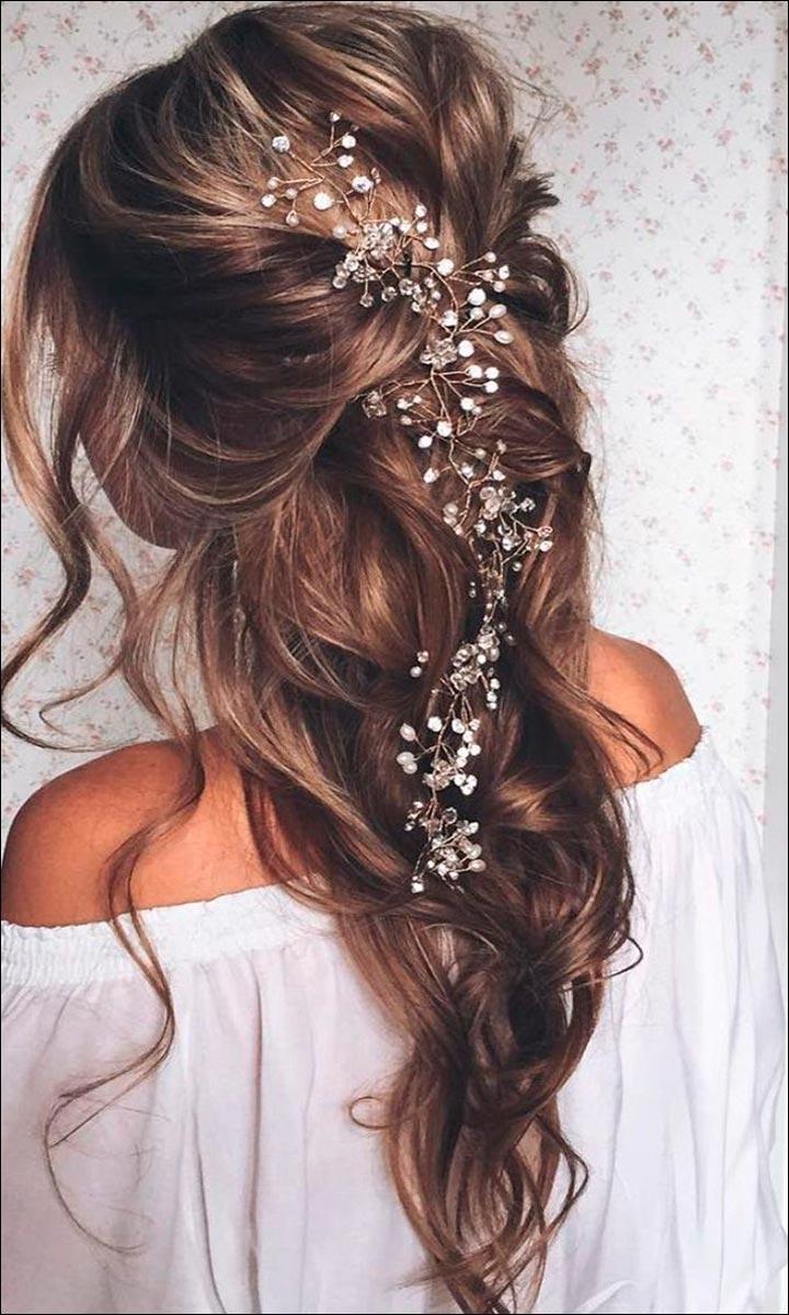 Wedding Hairstyles For Medium Hair Half Up Down Haircutsboy Co Regarding Most Popular Down Medium Hair Wedding Hairstyles (View 12 of 15)