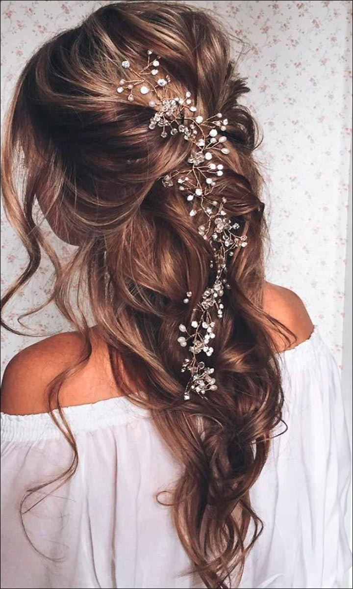Wedding Hairstyles For Medium Hair Half Up Down Haircutsboy Co Within Most Recently Released Casual Wedding Hairstyles (View 15 of 15)