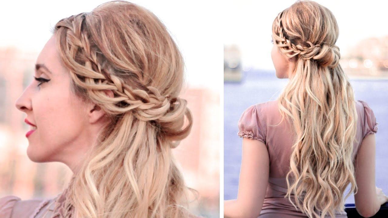 Wedding Hairstyles For Medium Length Hair Half Up Half Down Within Most Up To Date Down Medium Hair Wedding Hairstyles (View 13 of 15)
