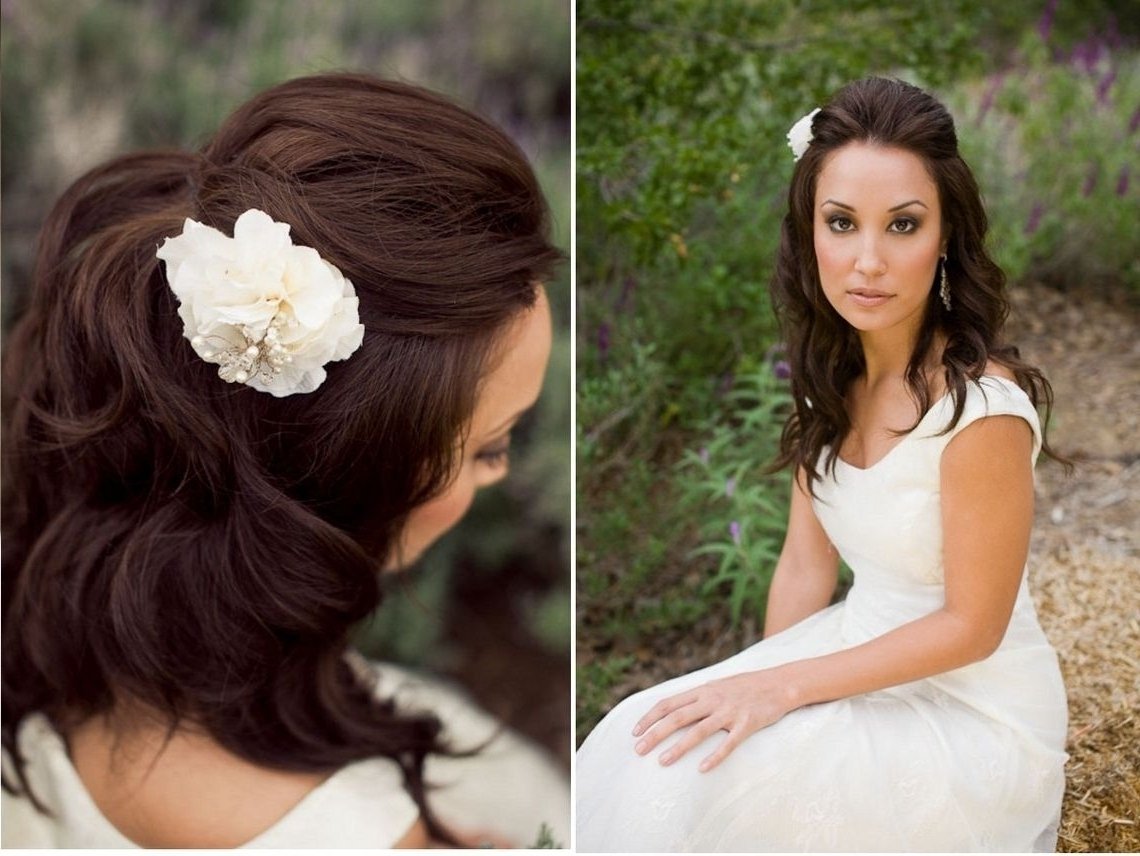 Wedding Hairstyles For Medium Length Straight Hair (View 14 of 15)