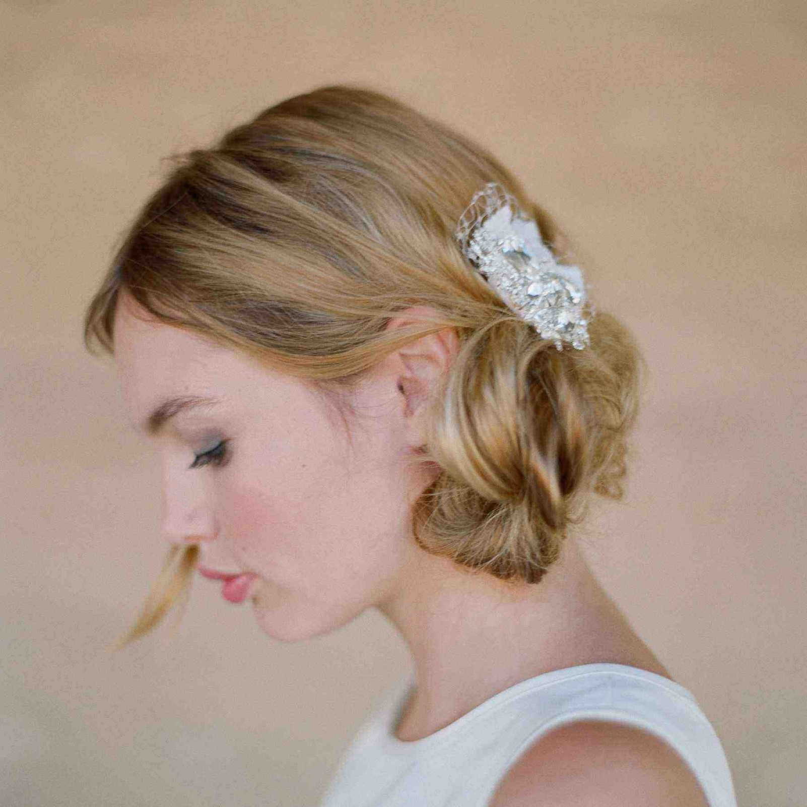 Wedding Hairstyles For Short Hair Half Up Half Down Unique Bridal With Regard To Famous Down Short Hair Wedding Hairstyles (View 14 of 15)