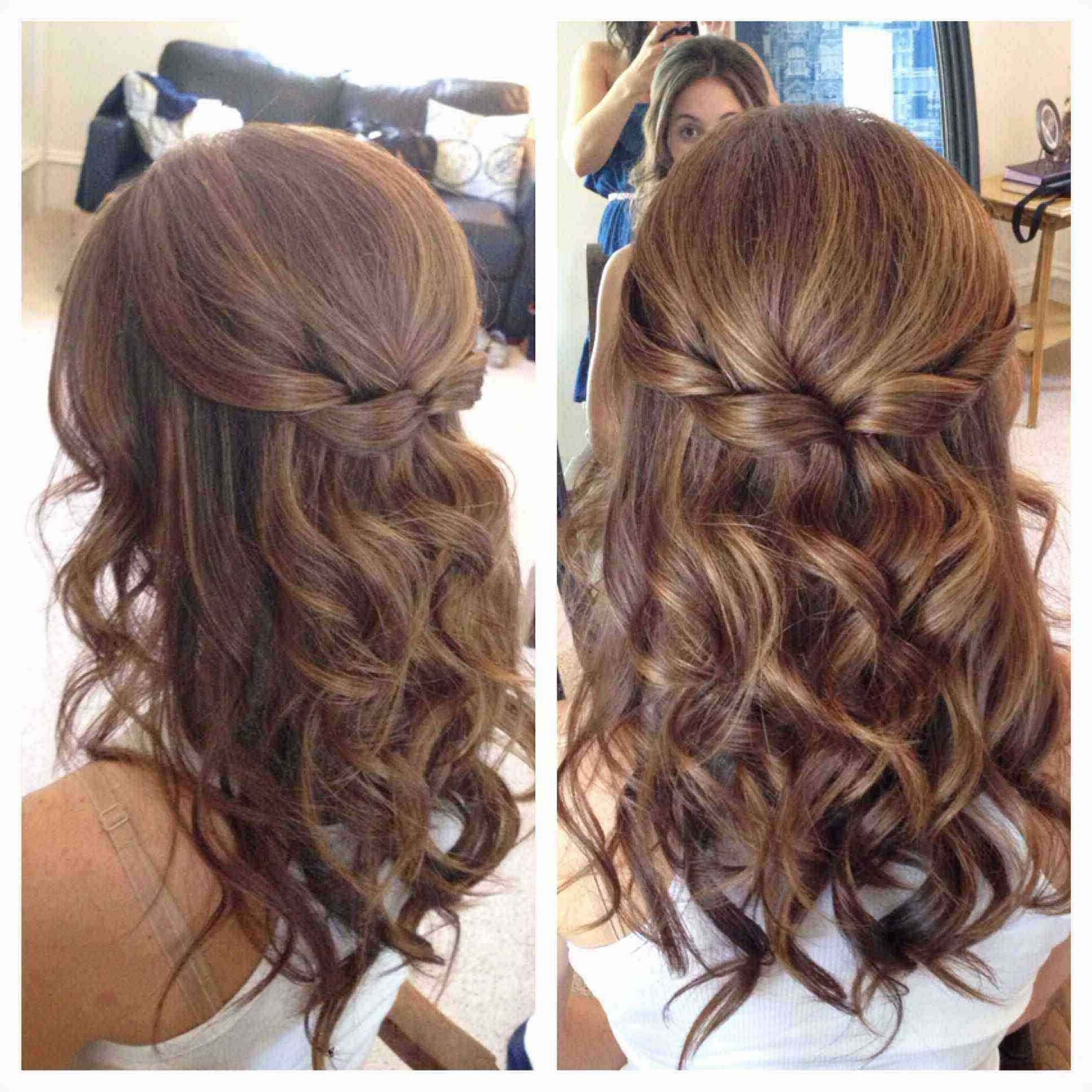 Wedding Hairstyles For Short Hair Half Up Half Down Unique Half Up Inside Most Up To Date Down Short Hair Wedding Hairstyles (View 11 of 15)