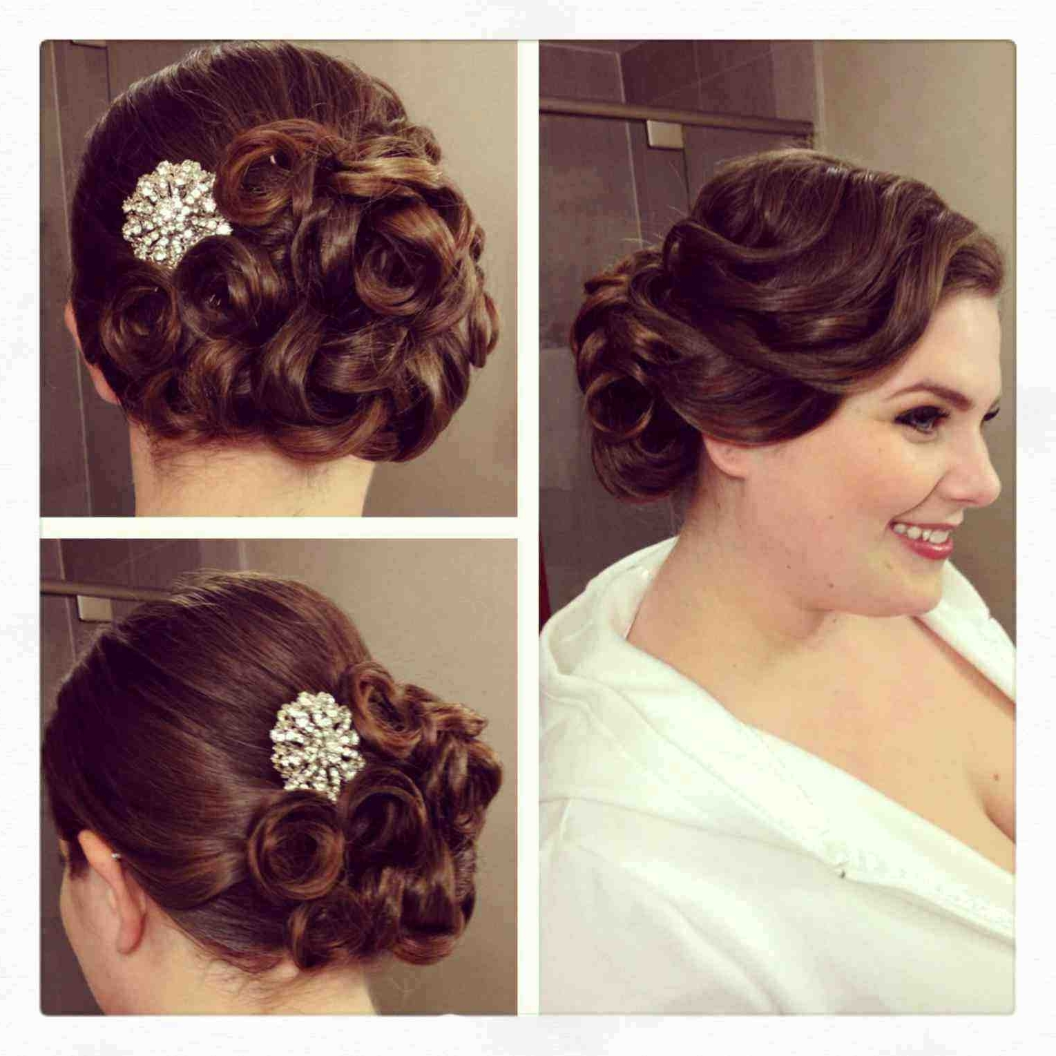Photo Gallery of Vintage Updo Wedding Hairstyles (Viewing 2 of 15 ...