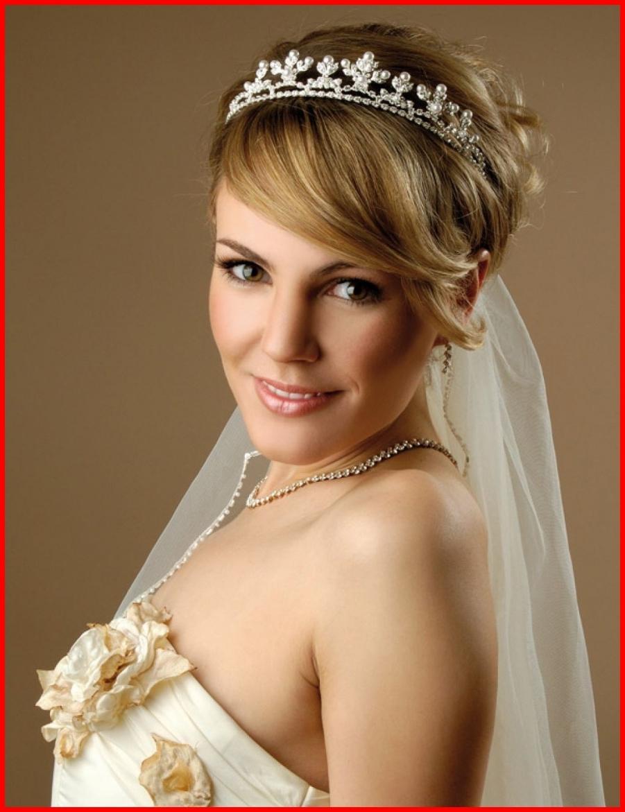 Wedding Hairstyles For Short Hair With Veil 50333 Short Bridal Regarding Most Popular Wedding Hairstyles For Long Hair With Veil (View 14 of 15)
