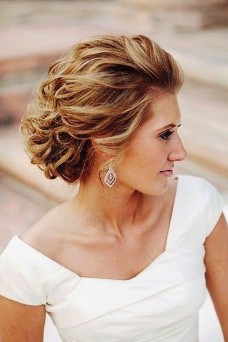 Wedding Hairstyles : Fresh Wedding Hairstyles For Medium Length Hair For Popular Wedding Hairstyles For Medium Length Hair With Bangs (View 9 of 15)