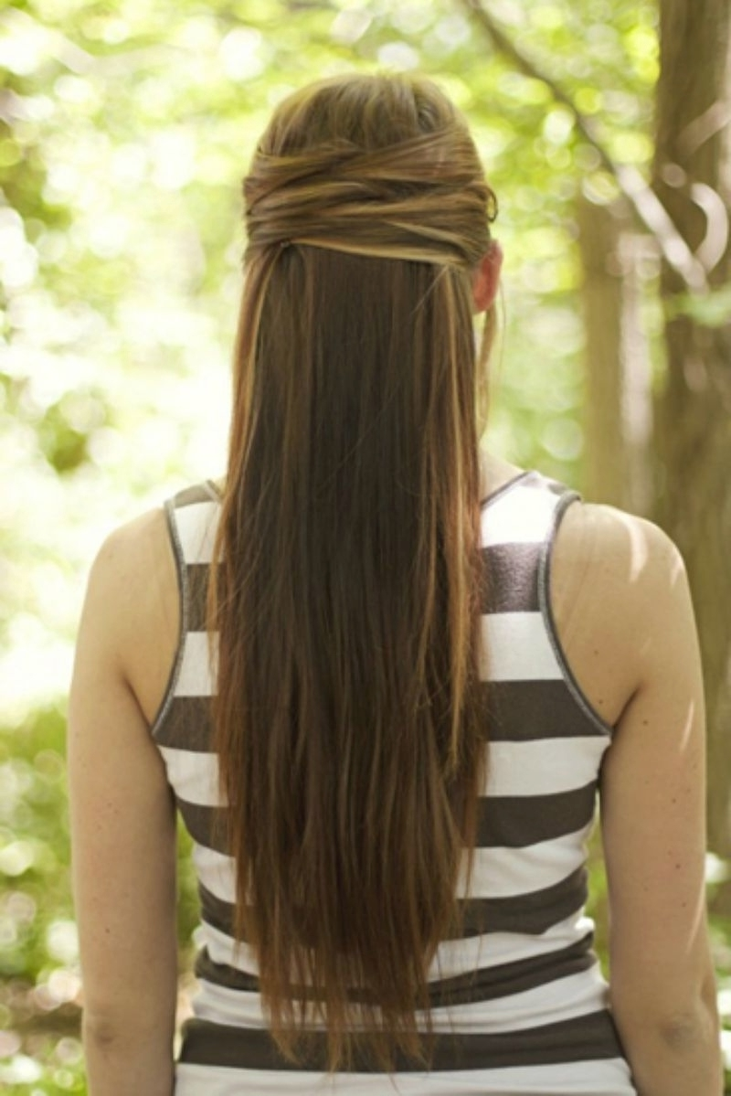 Featured Photo of Half Up Half Down Straight Wedding Hairstyles