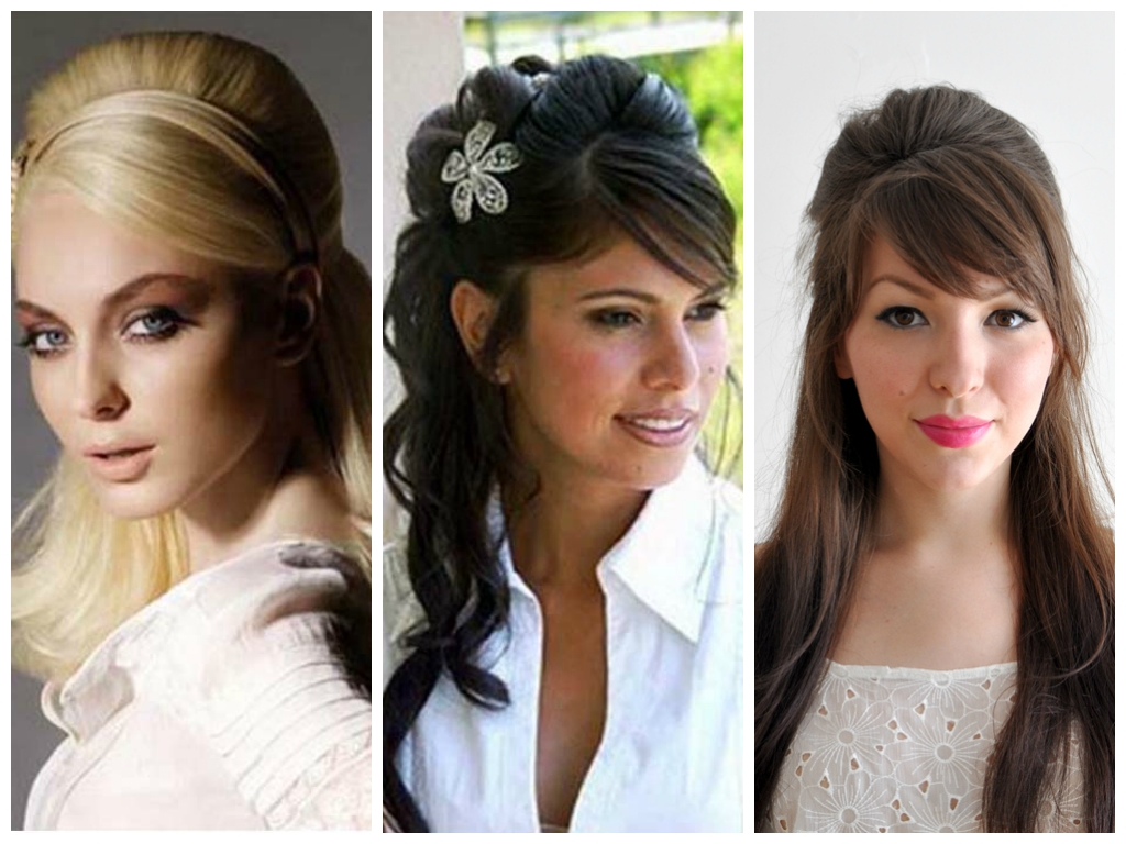 Wedding Hairstyles Half Up Half Down With Bangs – Skyranreborn With Famous Half Up Half Down With Fringe Wedding Hairstyles (View 15 of 15)