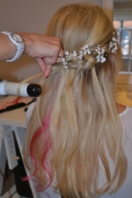 Wedding Hairstyles Half Up Half Down With Braid Half Up Half Down Throughout Most Popular Half Up Half Down With Flower Wedding Hairstyles (View 14 of 15)