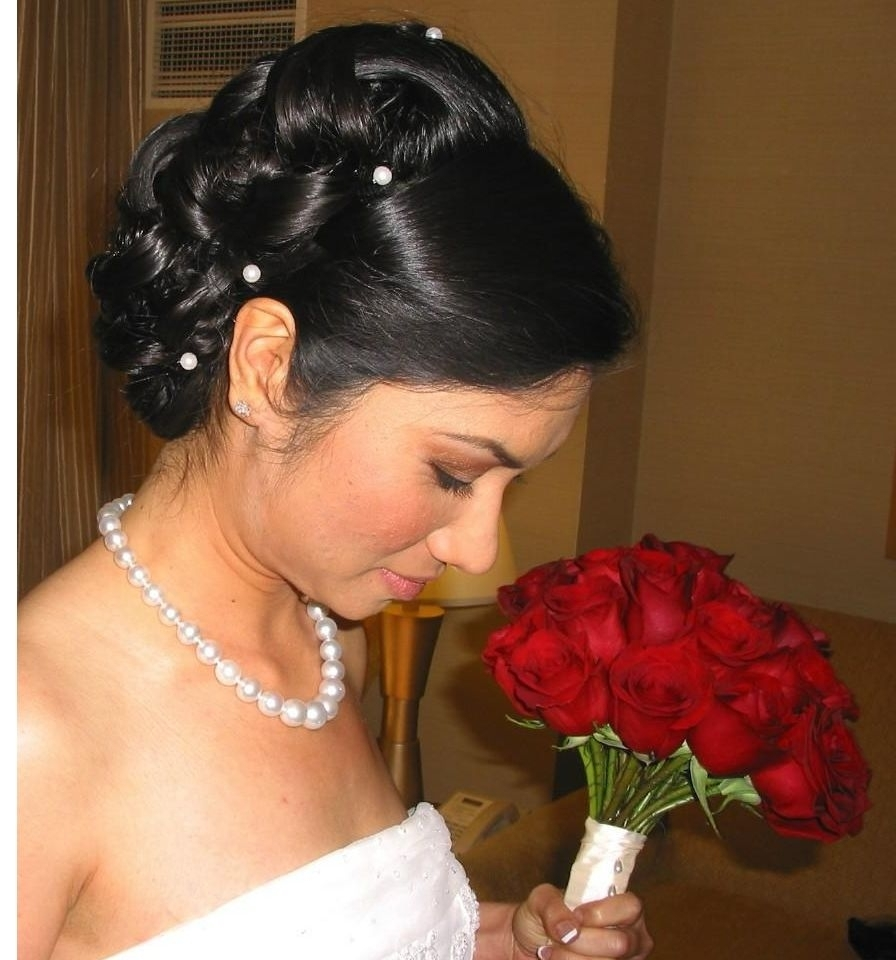 Wedding Hairstyles Ideas: Long Hair Curly Back Black Wedding Updo Regarding Best And Newest Pin Curls Wedding Hairstyles (View 14 of 15)