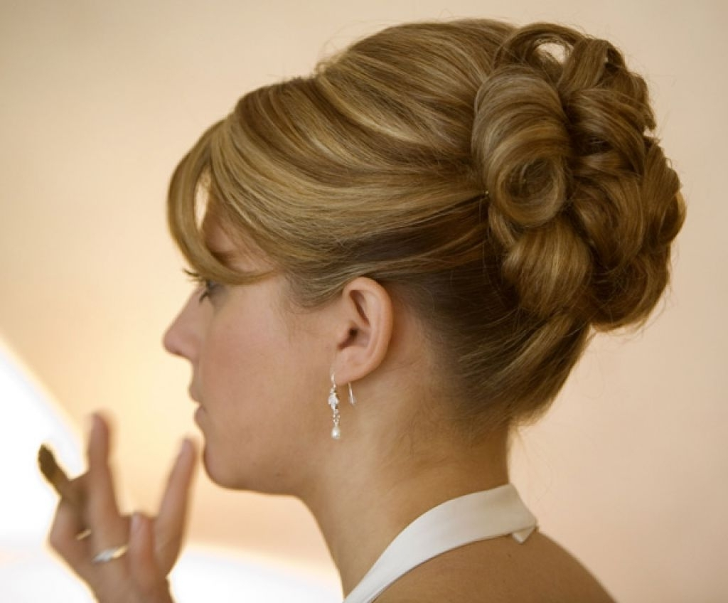 Wedding Hairstyles Ideas: Side Ponytail Curly Updo Fancy Wedding With Regard To 2018 Wedding Hairstyles For Medium Length Hair With Side Ponytail (View 15 of 15)
