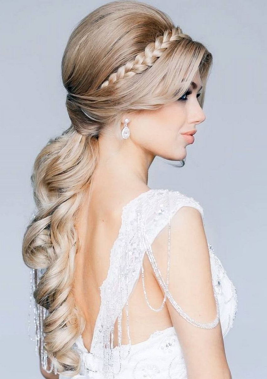 Wedding Hairstyles Ideas Wedding Hairstyles Ideas: Side Ponytail With Most Popular Wedding Hairstyles With Side Ponytail Braid (View 8 of 15)